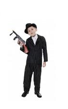 New Boys Gangster Mafia Black Costume 1920's Fancy Dress Book Day Childs Medium
