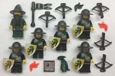 6 Lego Castle Knights Minifigs Lot: Kingdoms: army figures black green dragon