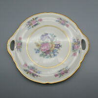 Castleton Fine China Castleton Rose Cake Plate Rare