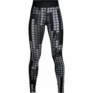 Under Armour Womens HeatGear Printed Running Tights Gym Sports Leggings Black