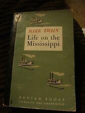 Mark Twain's Life on the Mississippi- 1945 Bantam Books 25 cents  FREE SHIP!