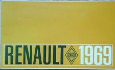 Renault All models  Sales Brochure -  1969