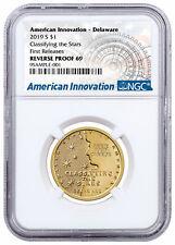 2019 S American Innovation Clad Dollar Reverse Delaware $1 NGC PF69 FR SKU59831