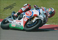 Jonathan REA SIGNED PATA HONDA Autograph Photo AFTAL COA Ferrari Circuit ITALY