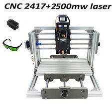 Mini CNC router & Laser 2500mw 2 in 1 desktop engraving machine 240*170*65mm