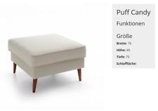 XXL Club Footrest Lounge Stool Ottoman Pufa Leather Textile Ottoman Designer New