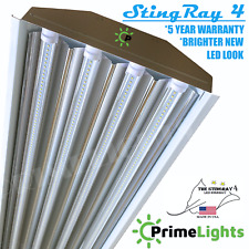 PrimeLights T8 Highbay Fixture LED Light 4 Bulbs