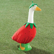 Strawberry Goose Outfit - Clothes Garden Cute Decor Outdoor Home Lawn Statues