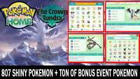 Pokemon Home Sword and Shield Completion! All 807 Pokemon Shiny The Crown Tundra