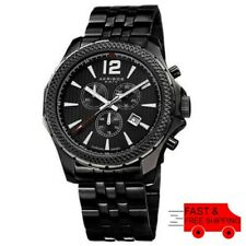 Akribos XXIV AK662BK Swiss Chronograph Date Minute Track Black Mens Watch