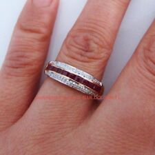 Diamond Band Ruby Fine Rings