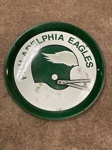 "Vtg Philadelphia Eagles Metal Beer Serving Tray NFL Football 14"" Wall Sign Dish"