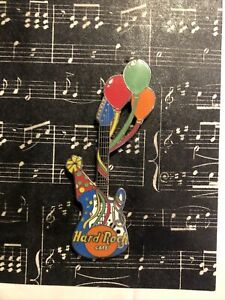 Hard Rock Cafe - Birthday Guitar Light Blue Guitar with Balloons - 4LC