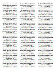 """450 Personalized Return/Mailing Address labels - 1"""" x 2.625"""" - Free USA Shipping"""