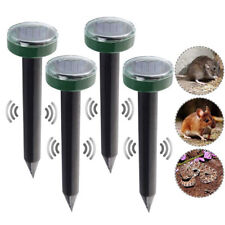 4Pcs Mole Repellent Solar Ultrasonic Repeller Spike Garden Pest Deterrent Grace