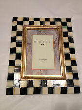 Mackenzie Childs 5 X 7 PICTURE PHOTO Wood Frame COURTLY CHECK NEW $115