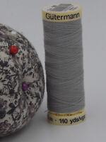 GUTERMANN -  Sew All Thread -100% Polyester- 100m - GREY- #38