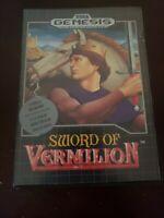 Sword of Vermilion (Sega Genesis, 1990) authentic tested working