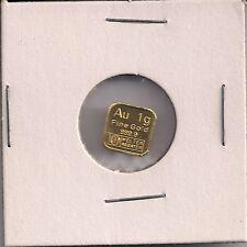 Argor Heraeus 1 gram 999.9 Fine Gold Bar