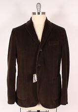 NWT Montedoro Brown Corduroy Giacco Blazer Sportcoat Jacket IT-58, US-48 $795