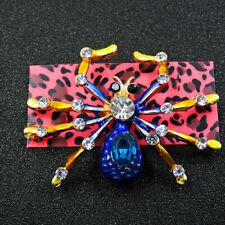 Betsey Johnson Charm Brooch Pin Gifts New Fashion Enamel Cute Spider Crystal