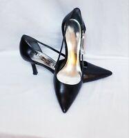 Lauren Ralph Lauren Womens BLACK Leather High Heel Pumps Sz. 7 B With Cut Outs