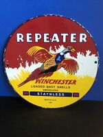 VINTAGE PORCELAIN WINCHESTER REPEATER SHELLS  SIGN