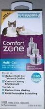 New Comfort Zone Multi-cat Diffuser Refills, 2 Pack, For Cat Calming Tension