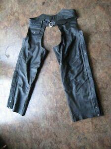 06 2004 Harley Davidson Leather Men's Chaps Black Size L