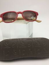 Eyebobs 2.00, Red Reader Sunglasses w/ Bamboo Temples ** NEW MINT CONDITION**