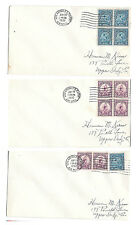 US 1932 Summer Olympics Los Angeles Sc 718 719 set 3 Covers June 20 Airmail