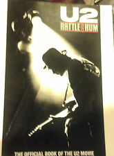 U2 BOOK RATTLE AND HUM OFFICAL BOOK OFTHE U2 MOVIE 95 PAGES 1988