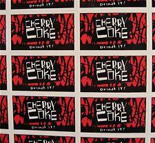 44 Cherry Coke Soda Stickers Coca Cola USA Adv Sheet