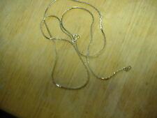 COSTUME JEWELRY SILVER METAL NECKLACE 28 INCH THIN