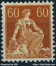 SUISSE N° 165 NEUF * AVEC CHARNIERE