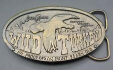 Wild Turkey Bourbon Austin Nichols Bergamot Whiskey Alcohol Vintage Belt Buckle