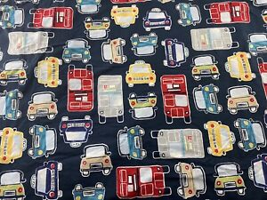 Pottery Barn Kids Full Queen Duvet Cover Boys Cars Trucks Bus Taxi Vehicles Blue
