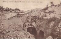 uralte AK Wirkung schwerer Artillerie im dem eroberten Fort Vaux 1916 //52