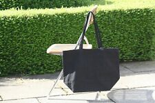 Plain Black Natural Heavy Cotton Canvas Shopper Tote Bag Plain 50*38*19