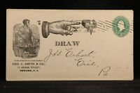 New Jersey: Newark 1897 George Smith Blacksmith Rebus Advertising Cover
