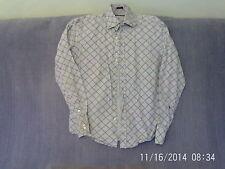 Mens Size M - Light Blue Check Smart Casual Long Sleeve Shirt - River Island