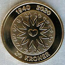 NEW*DENMARK / DÄNEMARK_20 Kroner 2020_80. Geburtstag Queen Margrethe II_unc_lose