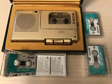 Rare Limited Edition Sony M-9G Gold Microcassette Player W/ New Cassette Ambient