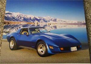 1981 Chevrolet Corvette ht car print (blue)