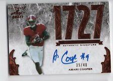 Amari Cooper 2015 Leaf Draft Ultimate RC Rookie Auto Autograph, /40, Raiders