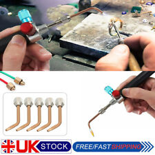 Jewelry Jewelers Micro Mini Gas Little Torch Welding Soldering kit w/ 5pcs Tips