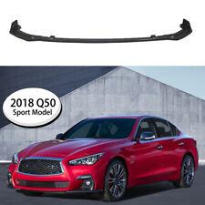 For 2018 2019 2020 INFINITI Q50 Sport Front Bumper Lip Splitter ABS Carbon Fiber