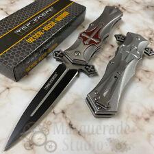 "Tac Force Collectors ""Crusader"" Red Cross Handle Spring Assisted Pocketknife"