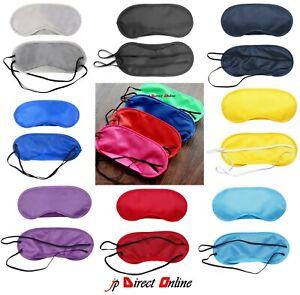 Soft Silk Padded Eye Mask Sleep Blindfold Travel Masks Beauty Cover Mix Colours