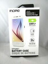 NEW Incipio Samsung Galaxy S6/S6 Edge Offgrid Battery Phone Case White Cellphone